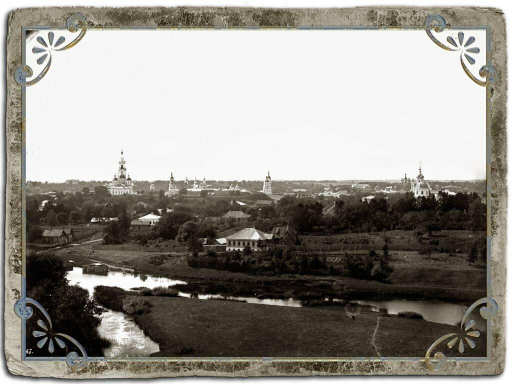 Вид на город с колокольни Введенской церкви