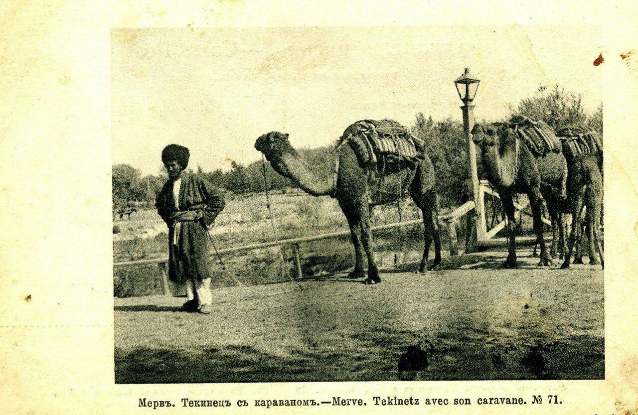 Текинец с караваном