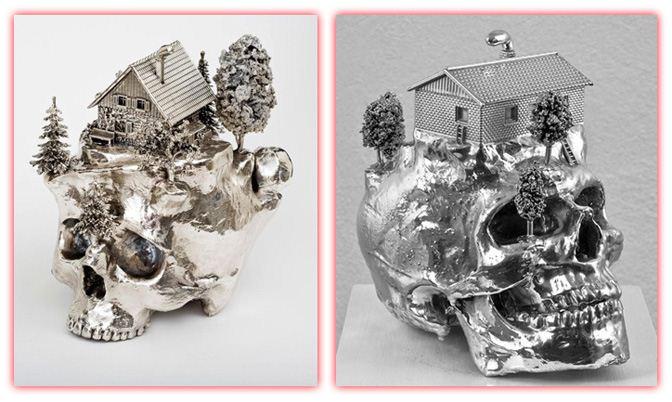 скульптура череп - Frodo Mikkelsen