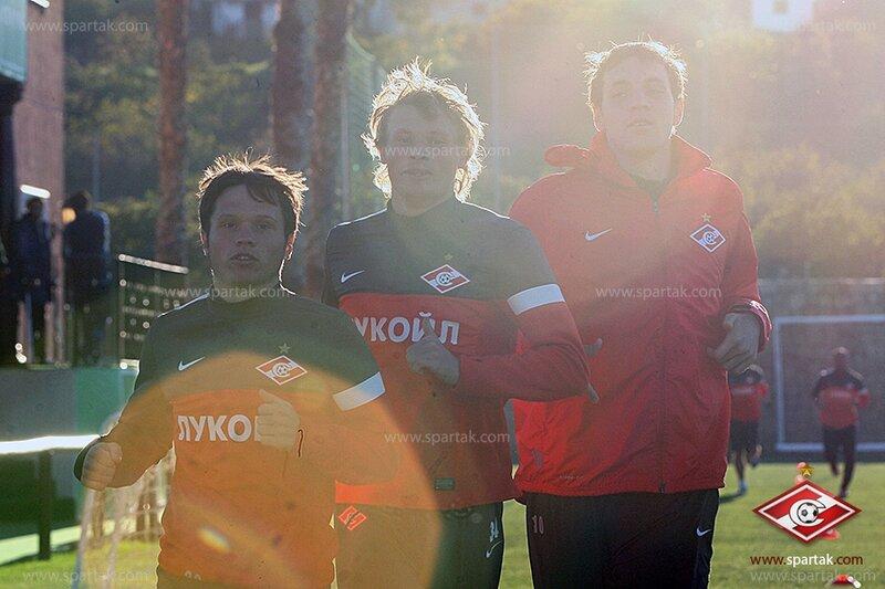 Первая тренировка «Спартака» на заключительном зимнем сборе (Фото)