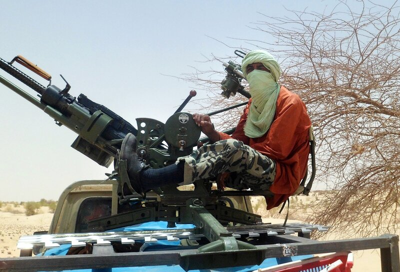 An Islamist rebel is pictured on April 2