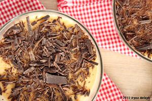 Подать чизкейк с шоколадом