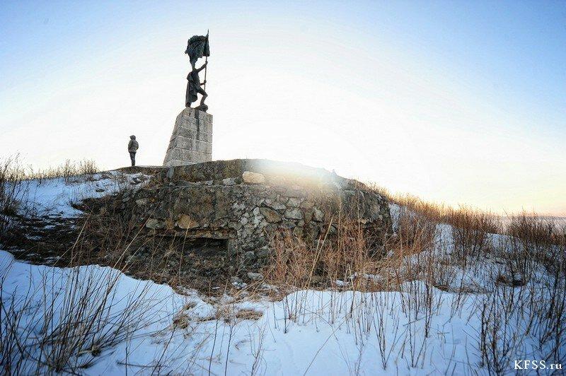 Сопка Крестовая памятник Героям Хасана в Краскино