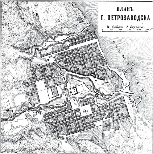 Генплан города Петрозаводска на 1876 год