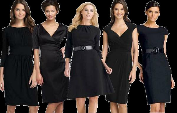 Маленькое черное платье для женщины за 50