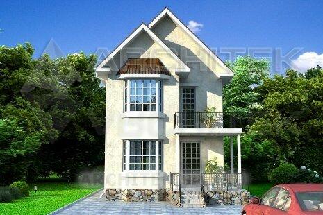 фото двухэтажных небольших домов