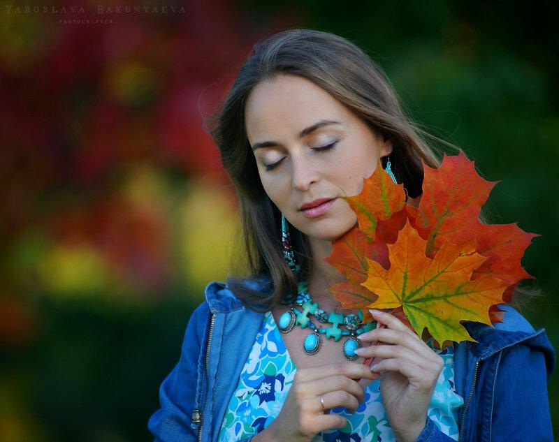 Осень в стиле бохо шик - съемка в Царицыно