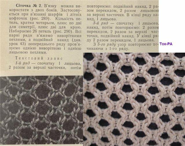 Вязания на спицах сеткой