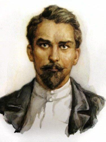 Н.Щорс акварель с фотографии 1919 г.