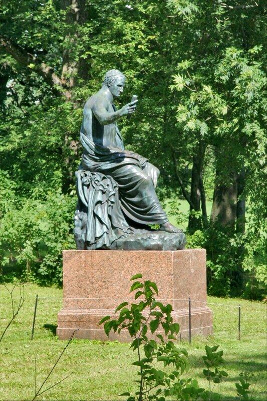Екатерининский парк, статуя Нервы, цезаря римского