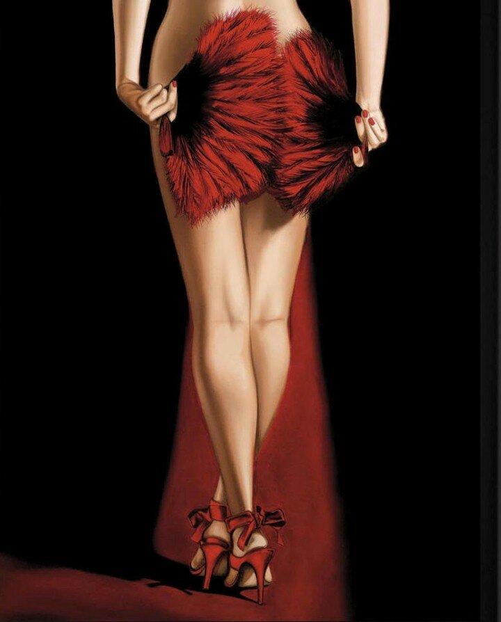 Женщина в красном – прекрасна, женщина в красном – огонь