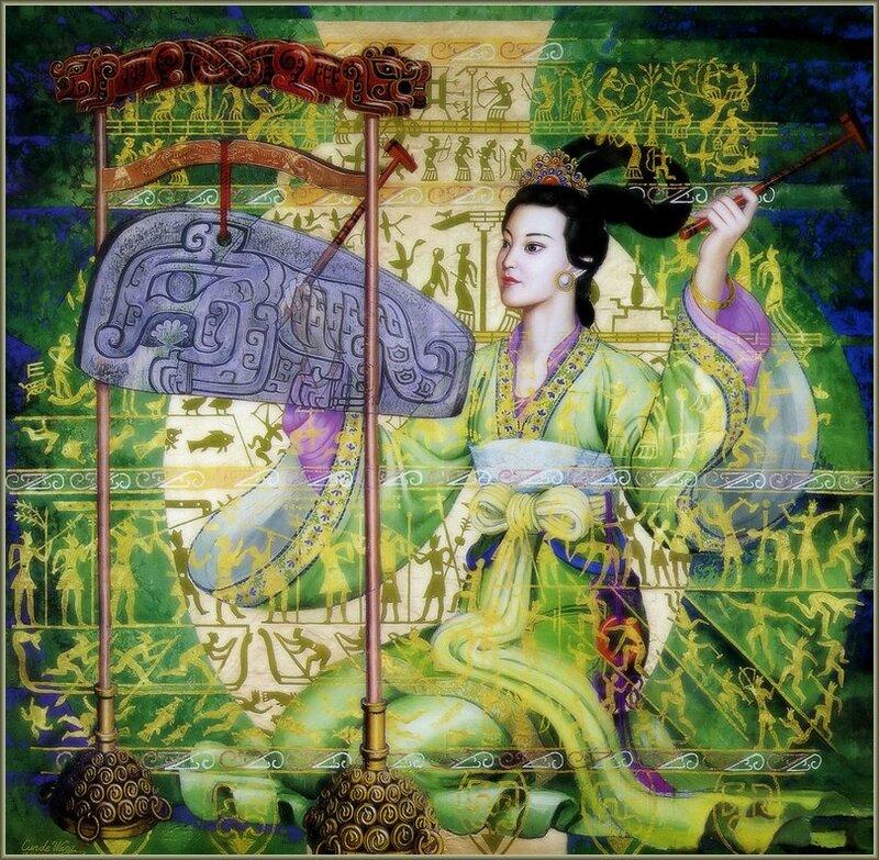 Живопись китайского художника Cunde Wang