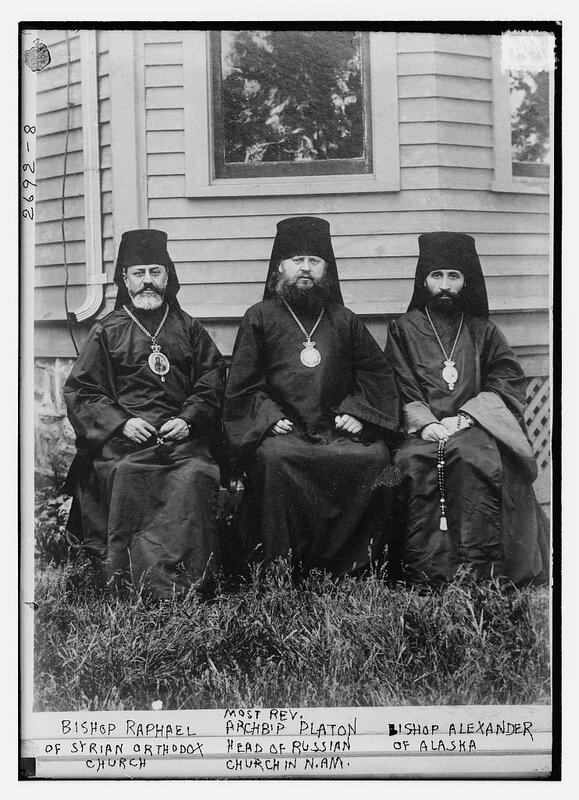 Bishop Raphael of Syrian Orthodox Church, Most Rev. ArchbÆp Platon Head of Russian Church in N. Am., Bishop Alexander of Alaska