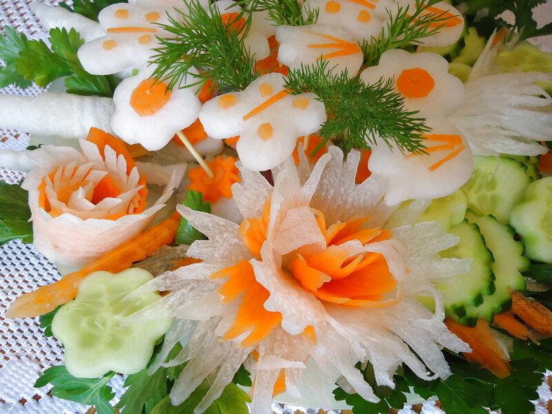 Красивые салаты! Красивая нарезка овощей!