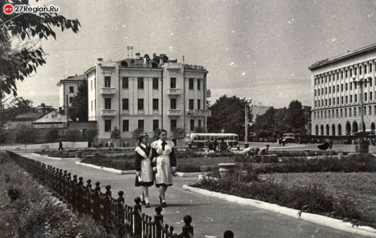 Площадь имени Ленина. 1950 гг.
