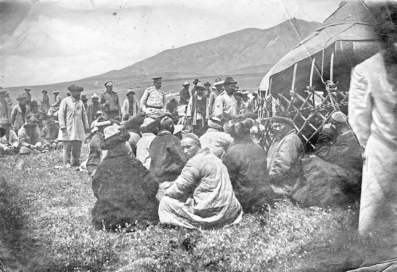 Выборы туземной администрации в Семиречье. Пржевальск  1905 год