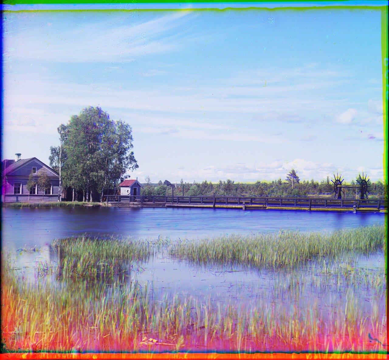 Плотина Св. Ксении на реке Вытегре. 1909 год