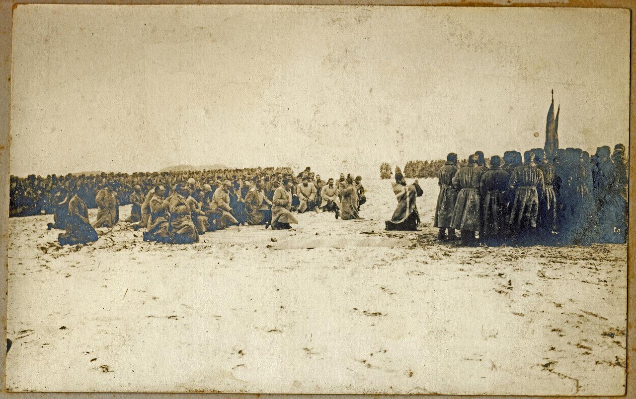 Молебен в частях русской армии в Маньчжурии. 1905 год