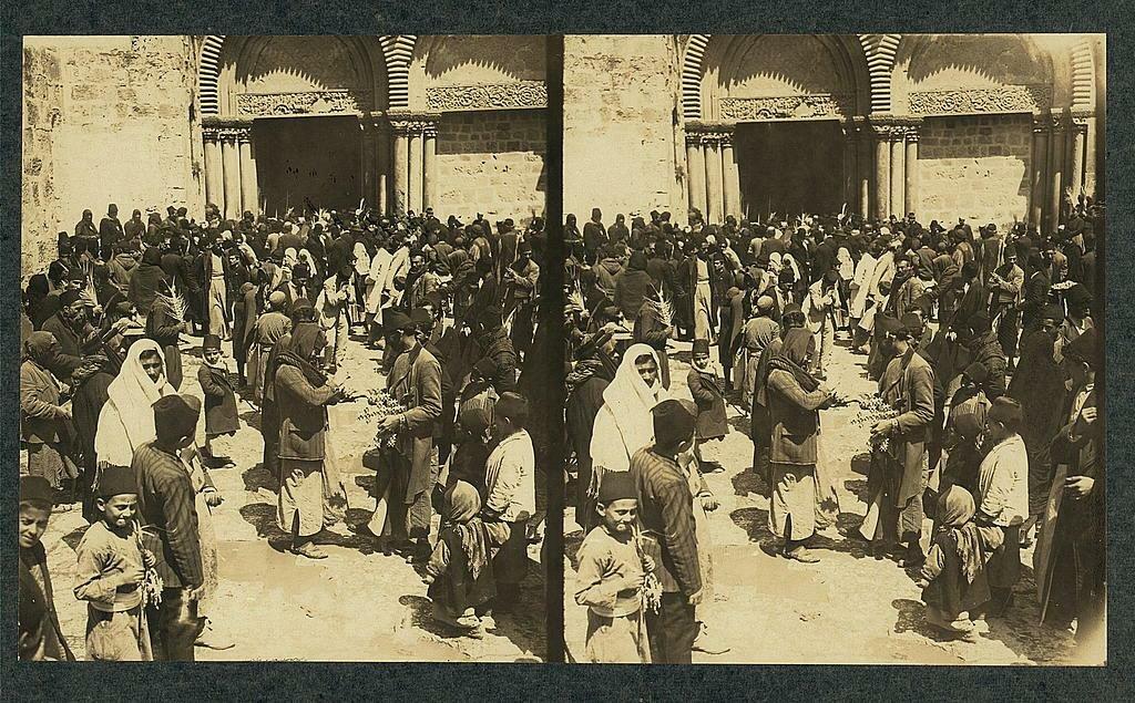 Паломники ко Гробу Господню. Пасха, апрель 1913.