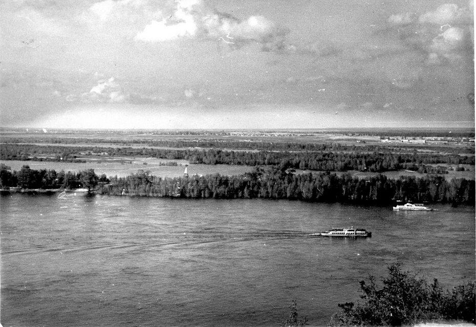 1950-е. Панорама Днепра и левобережья