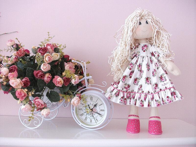 Интерьер с куклами тильда
