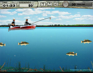 Рыбалка на бассов - рыболовная игра на LENV.RU