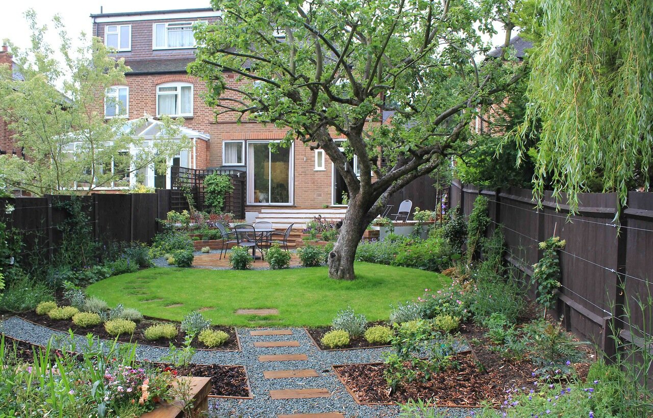 for Medium back garden designs