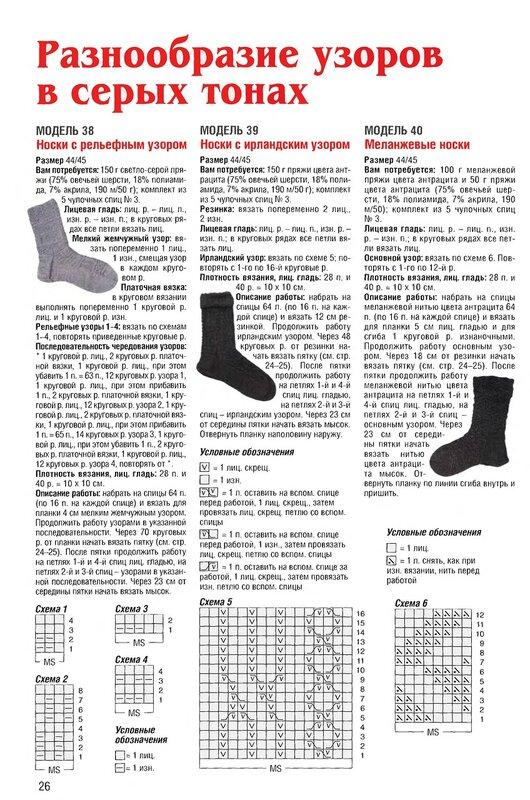 Вязание спицами носок и шапок 243