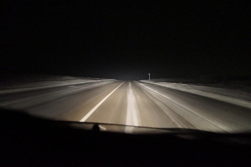 Фото из окна машины