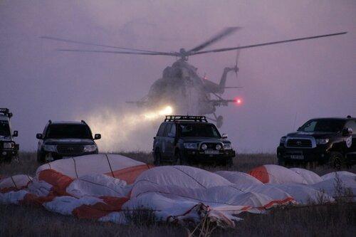 Энтузиасты прибыли на место приземления раньше спасателей
