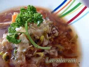Готовый суп с семгой