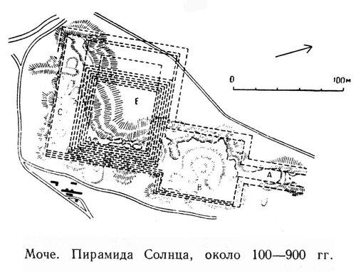 Пирамида Солнца в Моче, план