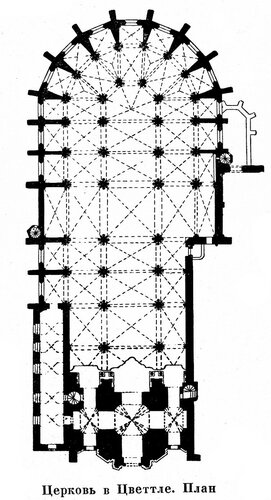 Церковь в Цветтле, чертеж плана