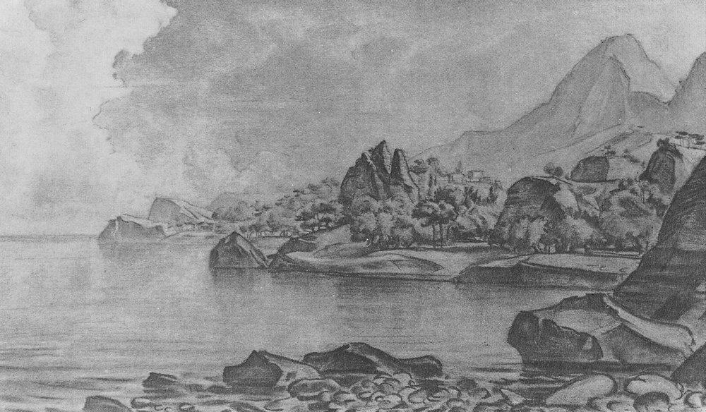 Скалистый берег моря. 1926.jpg