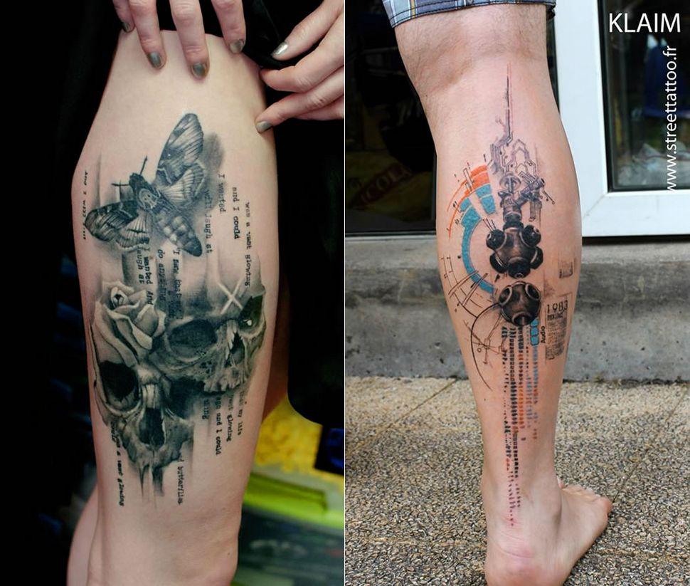 Татуировки акварелью