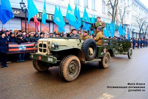 Парад победы в Луганске в честь 70 годовщины освобождения от немецко-фашистских захватчиков