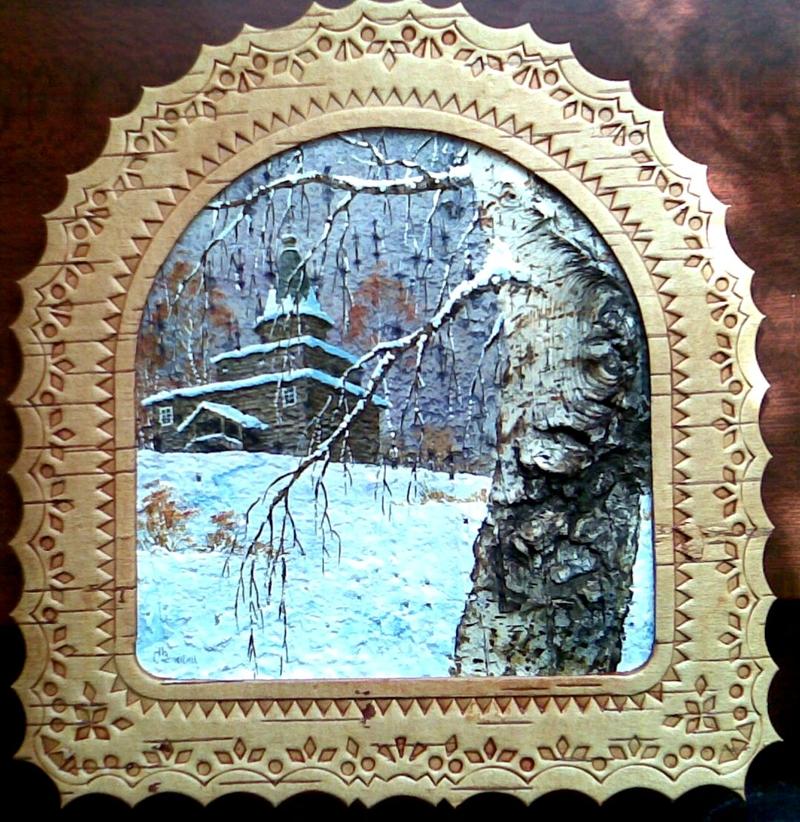 0 b6014 25e952bd orig  Пейзажи на бересте художника Сергея Зинина