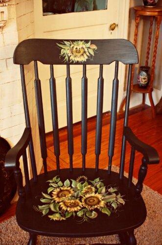 Мебель расписанная вручную