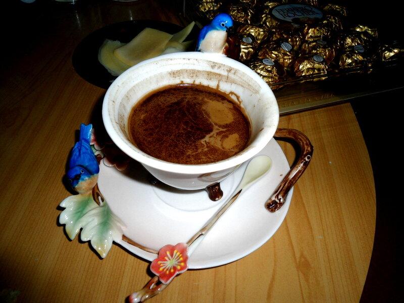 Весенний кофе с птичками.