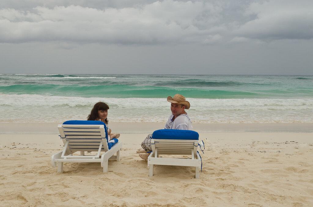 У изумрудного моря. Тулум. Мексика. Пляжный отдых