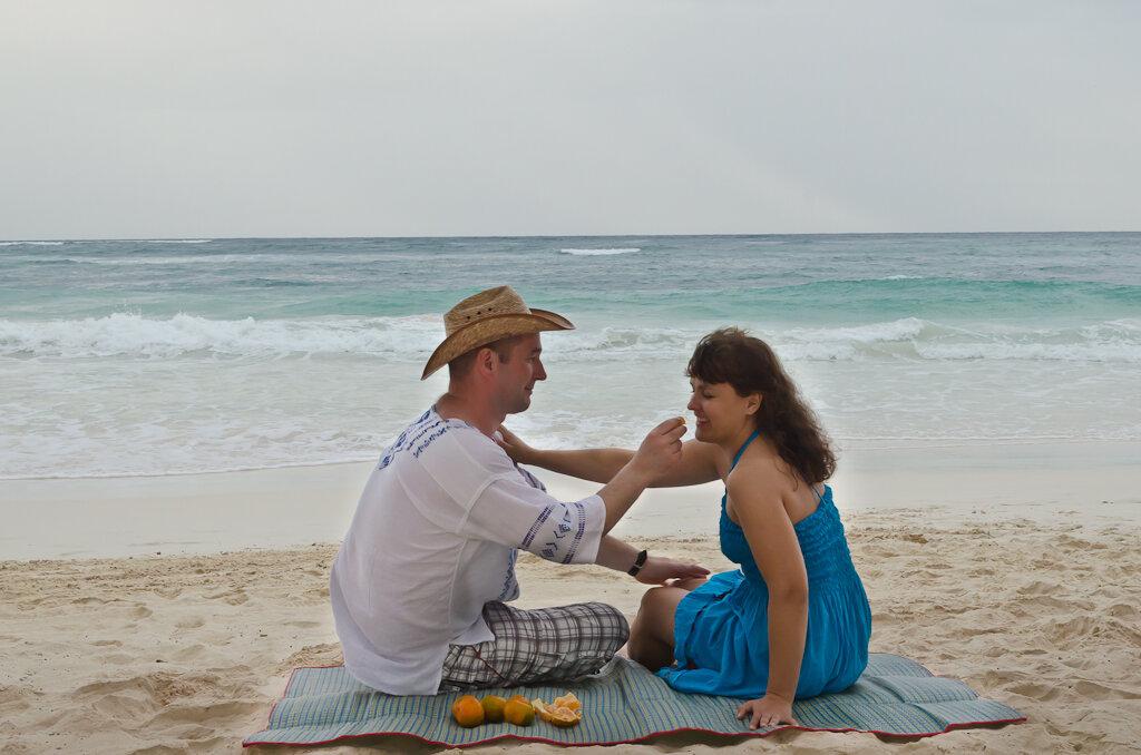 Романтический ужин у самого Карибского моря. Пляжный отдых в Мексике