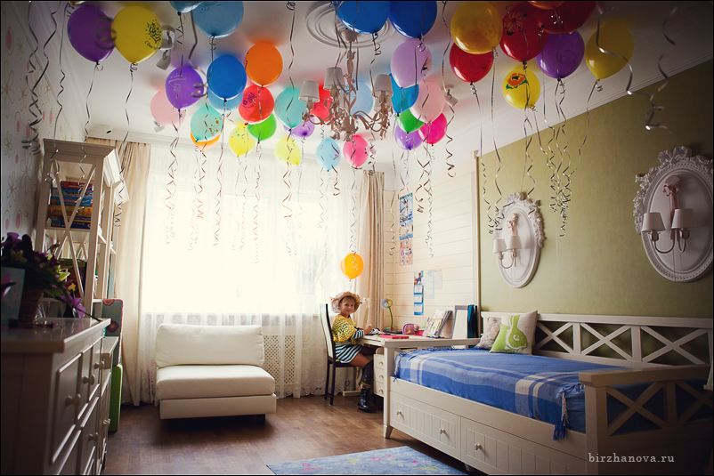 Украшение комнаты на день рождения ребёнка своими руками