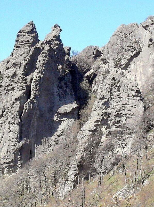 Апрель 2010, Кавказ, скалы Индюка
