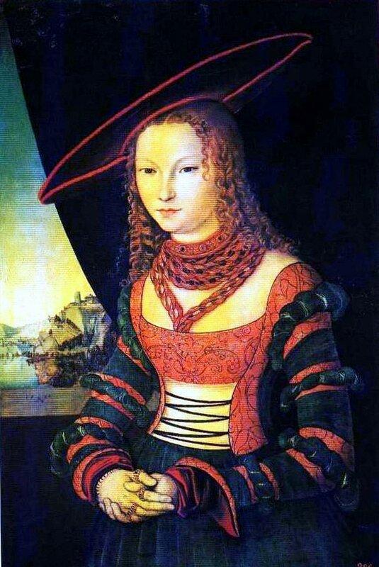Картины старых мастеров, живопись, Лукас Кранах Старший, Женский портрет