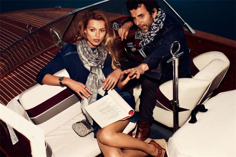 Edita Vilkeviciute by Alexi Lubomirski / Эдита Вилкевичуте в рекламе Louis Vuitton 2012 в образе кинозвезды