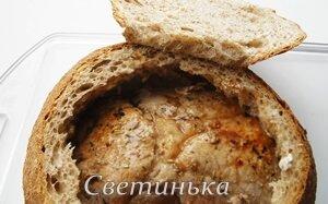 мясо положить в хлеб