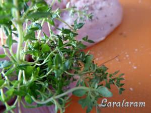 добавить к филе тимьян