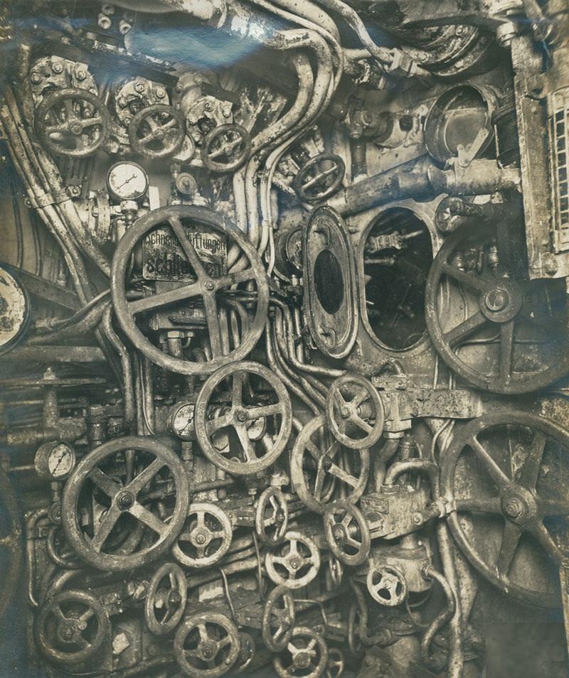 Система перепускных клапанов немецкой подводной лодки UB–110 1918 года
