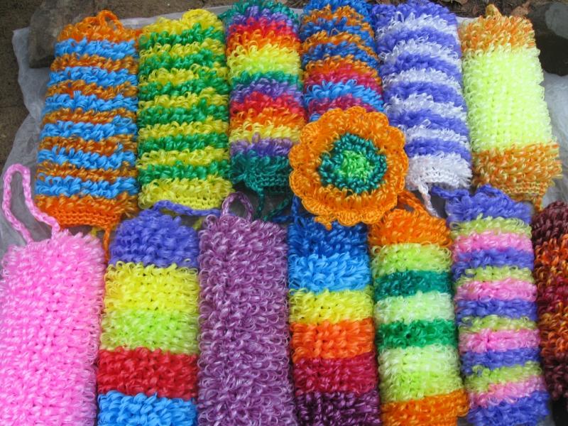 Идеи для вязания мочалки