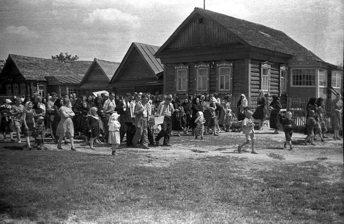 Похороны в старообрядческой деревне. 1958